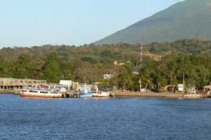 Approaching the harbor of Moyogalpa village on Ometepe Island