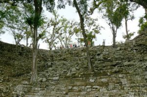 Tourists on top of the Temple