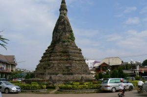 Ancient stupa in city center