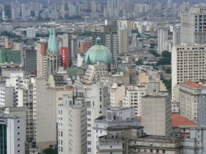 Brazil - Sao Paulo - view east from Edificio Italia