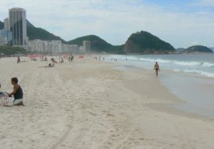 Brazil - Rio - Copacabana Beach is north of Ipenema