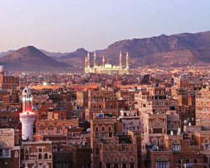 Yemen - Sanaa city with mosque (photo credit: http://www.destination360.com/middle-east/yemen)