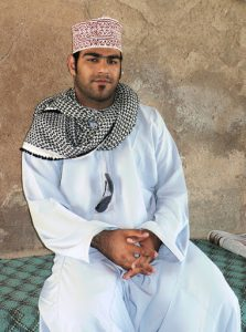 Oman - man dressed in a dishdasha