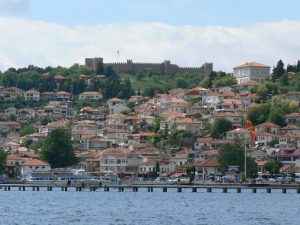 Macedonia, Ohrid City - view of the city and castle