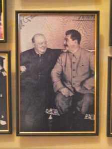 Photo from the famous Yalta Conference with Churchill, Roosevelt and