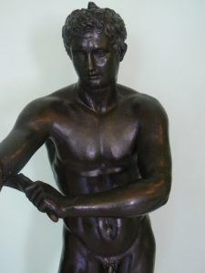 Greece, Corfu Island, Achilieion Palace bronze youth