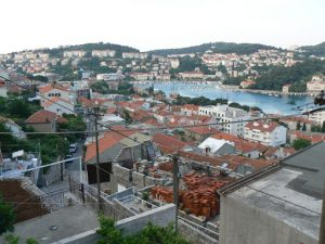 Croatia, Dubrovnik: view of the city side of the port