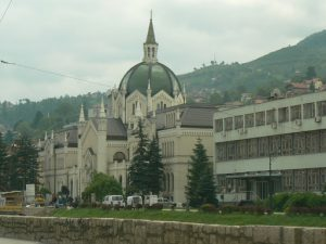 Bosnia-Herzegovina, Sarajevo City: Catholic Cathedral
