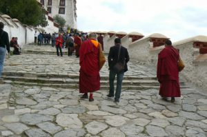 Tibet: Lhasa - Potala Palace invites many diverse visitors daily.