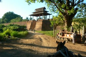 Burma, Mandalay: Ava (or Inwa); ancient city wall tower