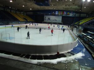 Croatia, Zagreb: sports center; hockey, volleyball and soccer arena