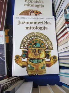 Croatia, Zagreb: train station book stall 'Central America Mythology''