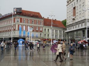 Croatia, Zagreb: Jela????i????? Square is the central square of the