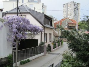 Croatia, Zagreb: typical city house (not many high rise buuildings)