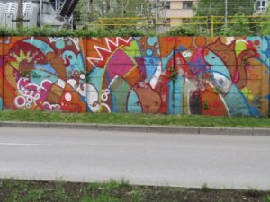 Croatia, Zagreb: graffiti wall